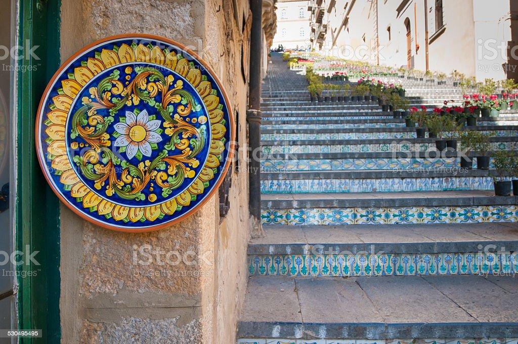 Art of ceramic in Sicily stock photo