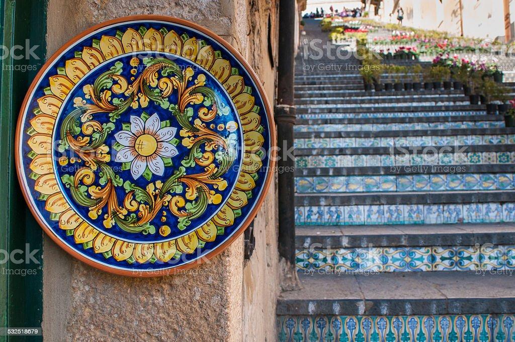 Arte di ceramica in sicilia fotografie stock e altre immagini di