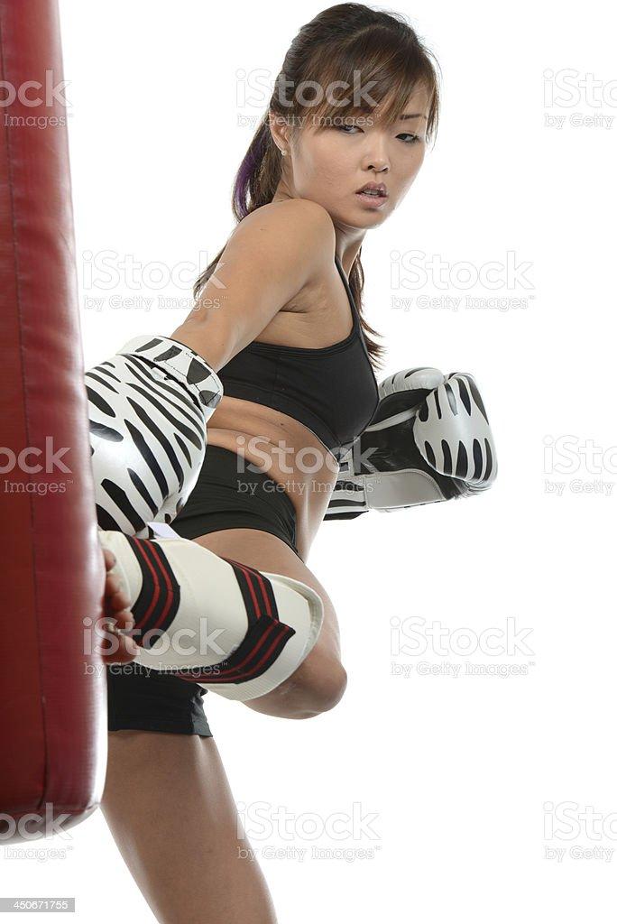 Art of Kickboxing stock photo