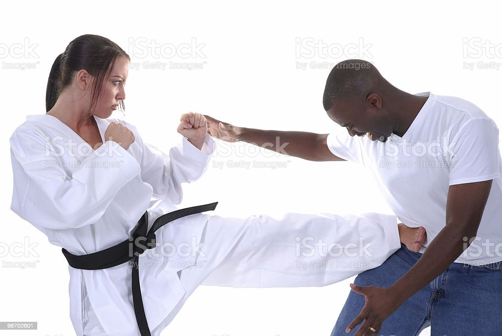 Art of self defense royalty-free stock photo