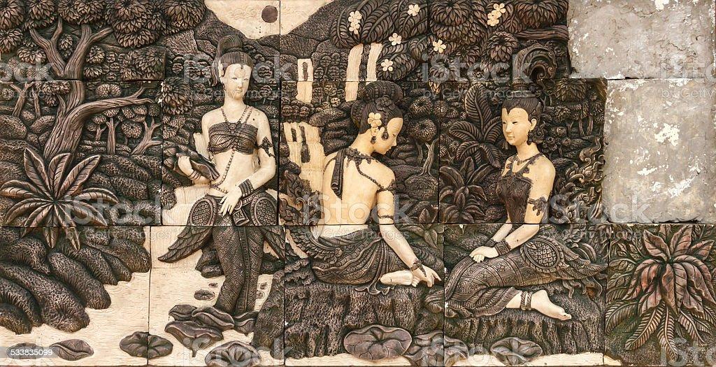 Art of texture on title. stock photo