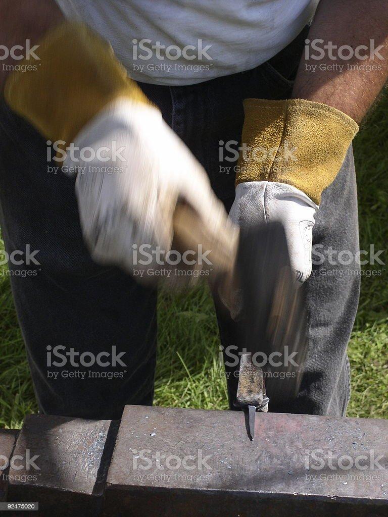 Art of the Blacksmith royalty-free stock photo