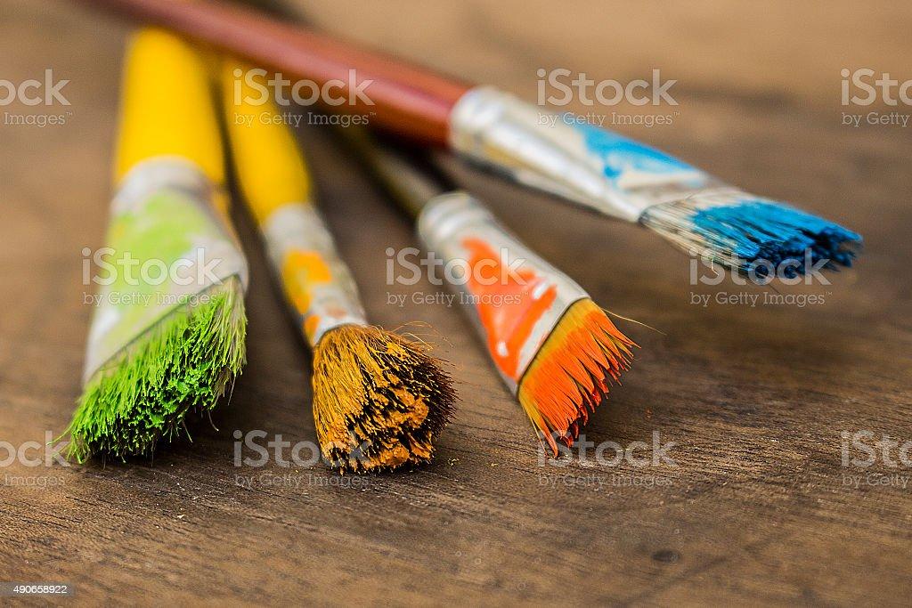 Art pain brushes stock photo