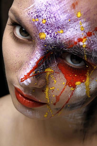 Bemalte Gesicht Kunst – Foto
