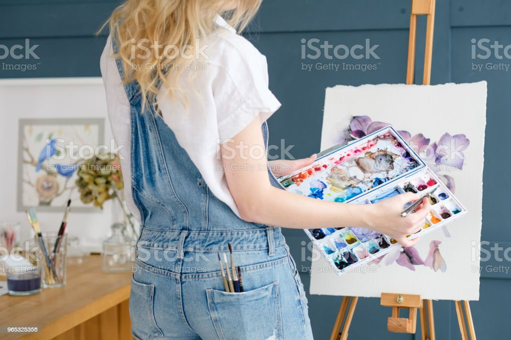 art painting hobby leisure girl drawing picture royalty-free stock photo