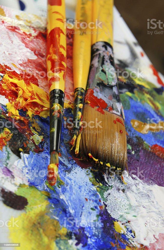 Art palette royalty-free stock photo