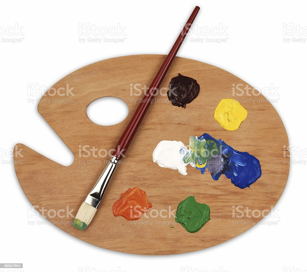 art palette royalty-free stock photo