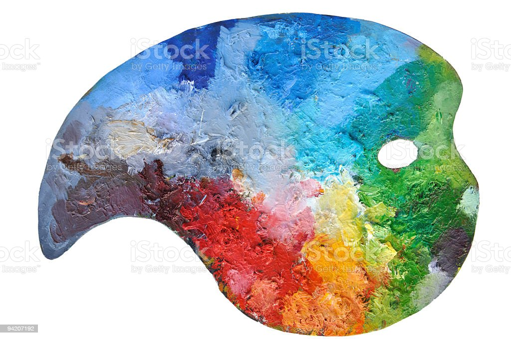 Art Palette right composition of colours stock photo