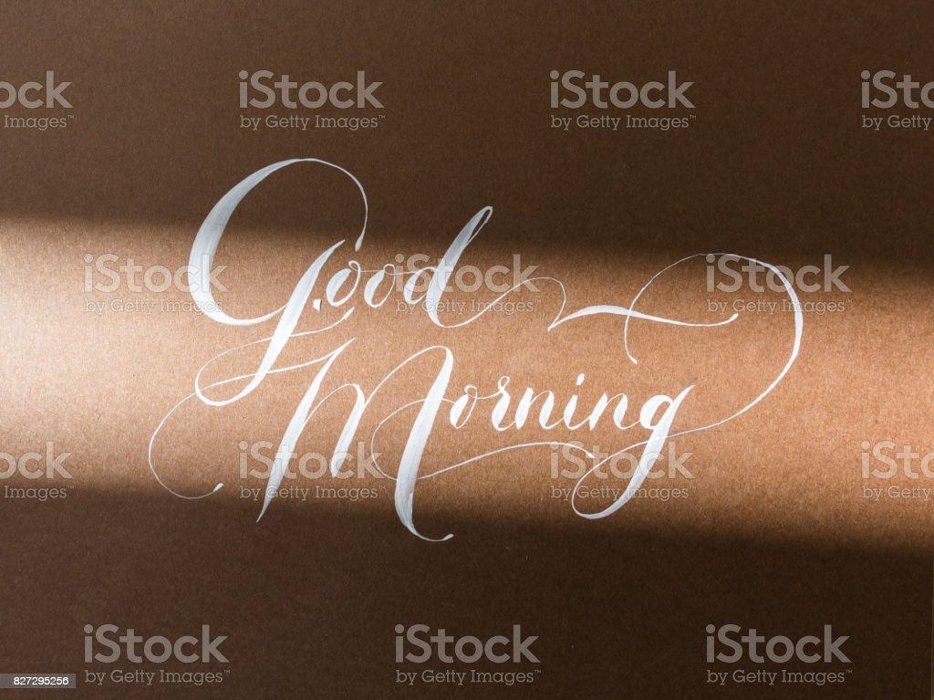 Kunst, Leidenschaft, Kalligraphie Konzept. Auf Dem Papier Der Schokolade  Farbe Gibt Es