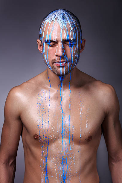 Best Nude Male Body Painting Stock Photos, Pictures