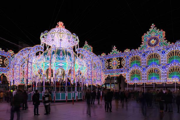 glow art project - eindhoven city stockfoto's en -beelden