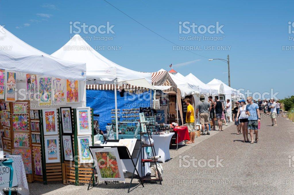 Art show in Cape Ma stock photo