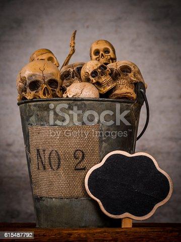 istock Art skull 615487792