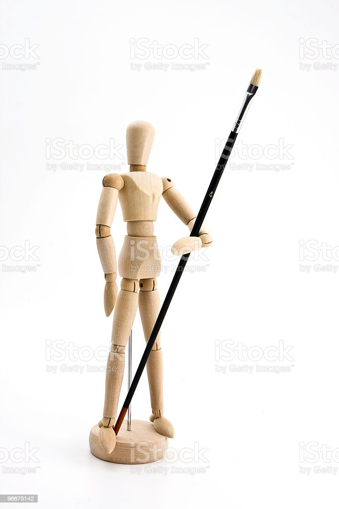Art Soldier royalty-free stock photo