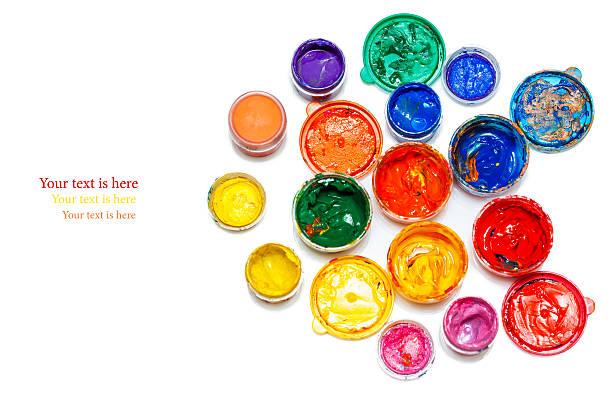 art studio Farben auf Weiß – Foto