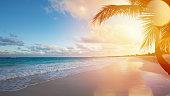アート夏のバカンスのオーシャンビーチ