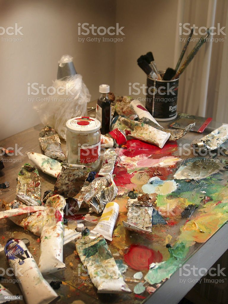 Art Supplies royalty-free stock photo