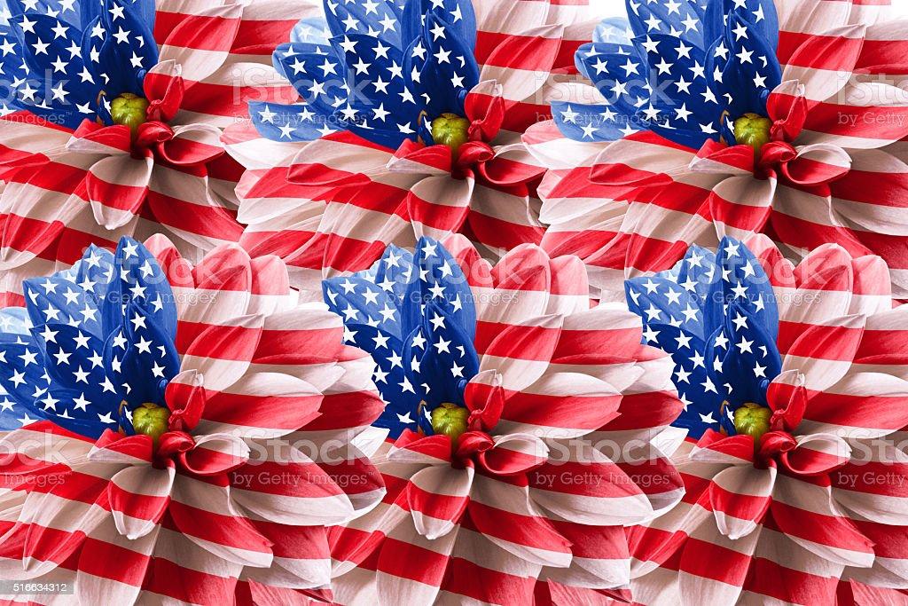 Art USA flag stock photo