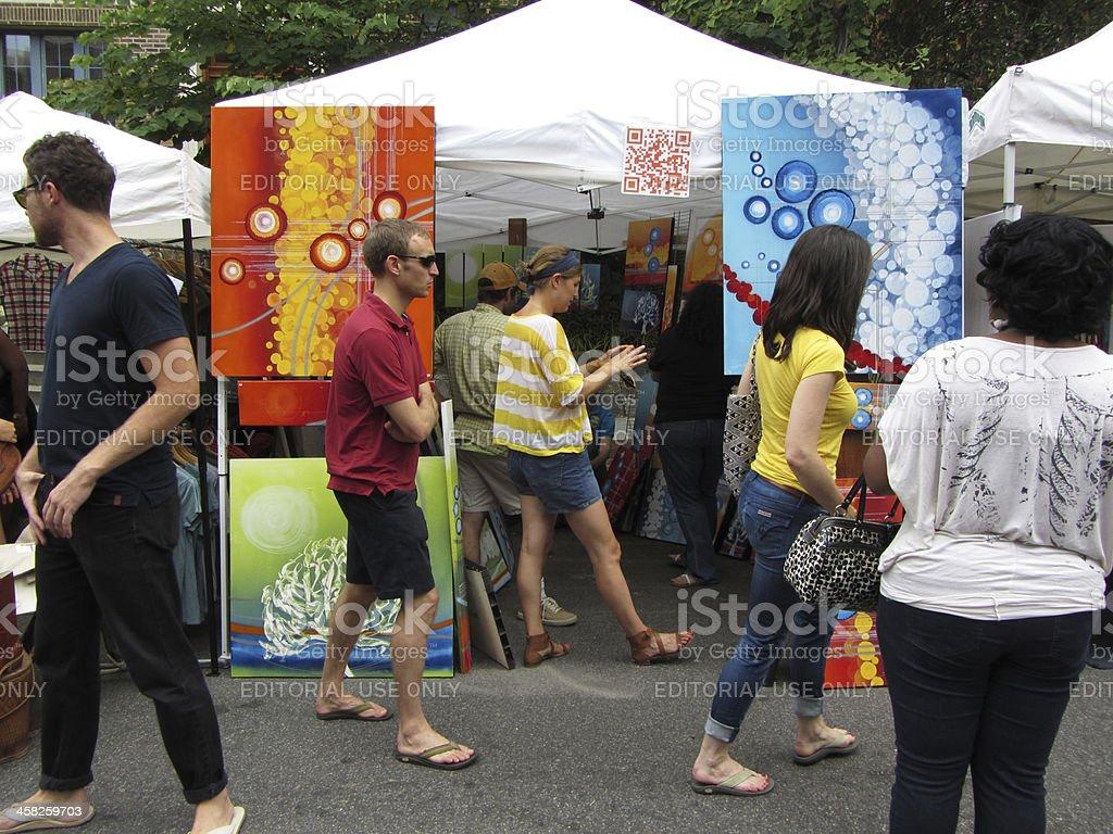 Art Vendor in Adams Morgan stock photo