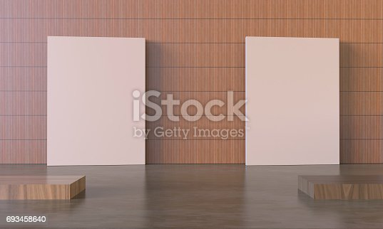 istock Art work and Exhibition Display Picture frame on Modern wall 693458640