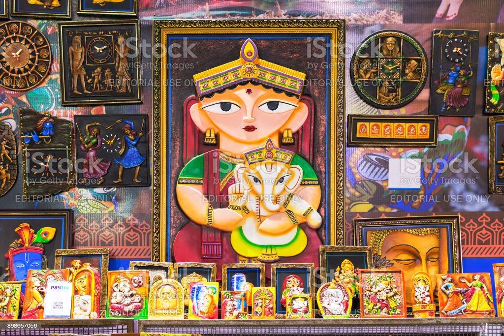 Art Work Indian Handicrafts Fair At Kolkata Stock Photo More