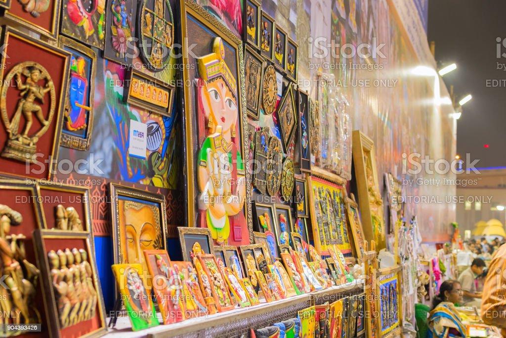 Kunst, indische Kunsthandwerk fair in Kolkata – Foto