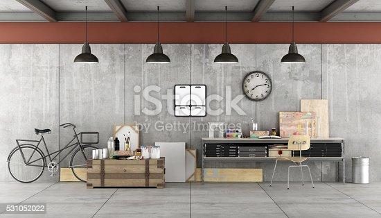 istock Art workshop in a loft 531052022