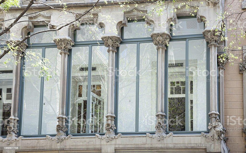 Artd deco window in Barcelona royalty-free stock photo