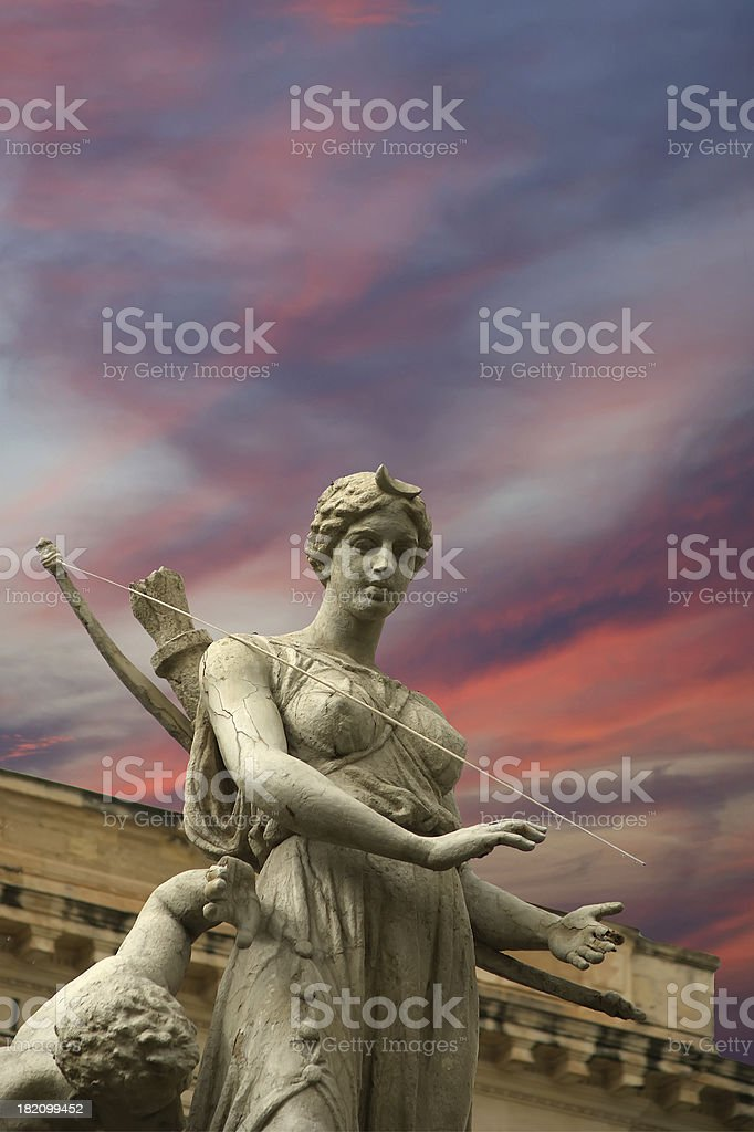 Artemide fountain. Syracuse (Siracusa, Sarausa),  Sicily, Italy stock photo