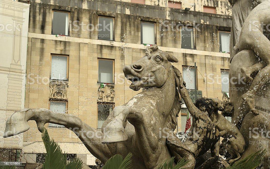 Artemide fountain. Syracuse (Siracusa, Sarausa),  Sicily, Italy royalty-free stock photo