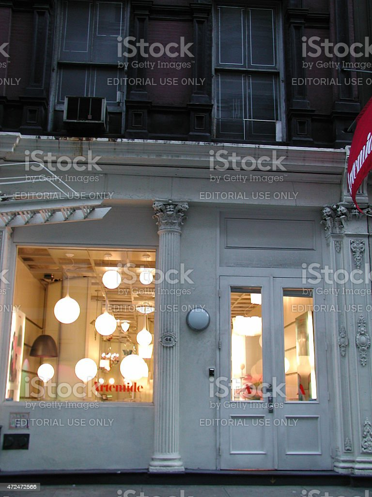 artemide lighting store in soho nyc stock photo more pictures of