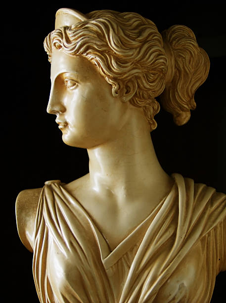 Artemis a copy of an ancient Greek bust of Artemis artemis stock pictures, royalty-free photos & images
