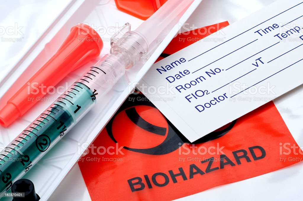 Arterial Blood Sampler stock photo