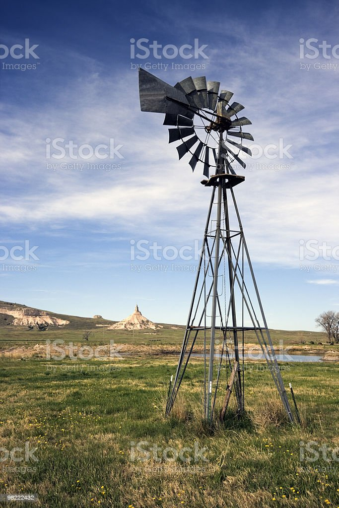 Artesian Well and Chimney Rock royalty-free stock photo