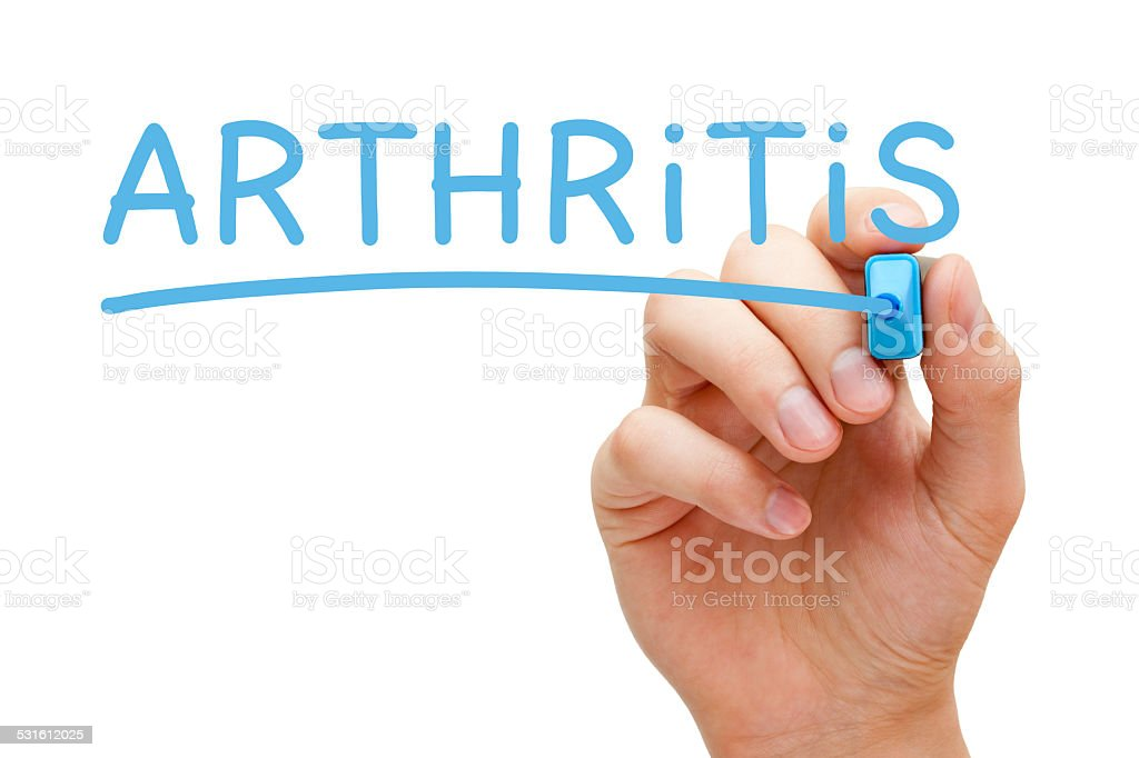 Arthritis Blue Marker stock photo