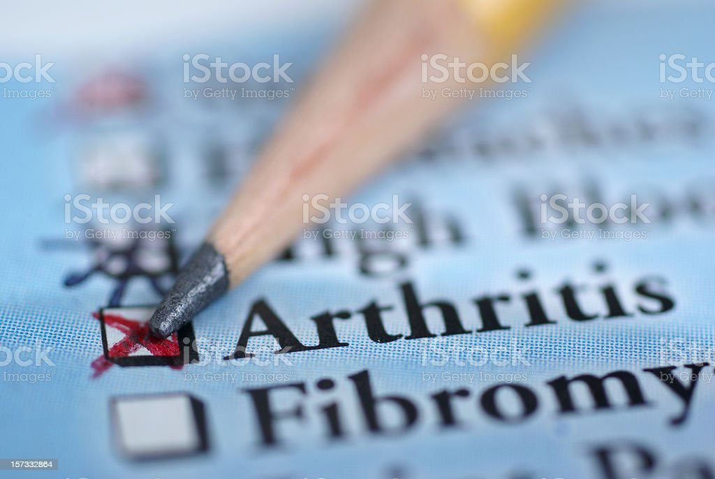arthritis-medical chart royalty-free stock photo
