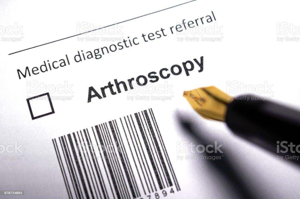 Arthroscopy stock photo