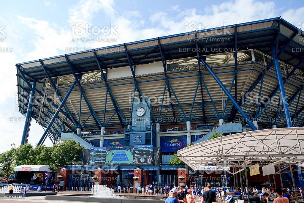 Arthur Ashe Stadium stock photo