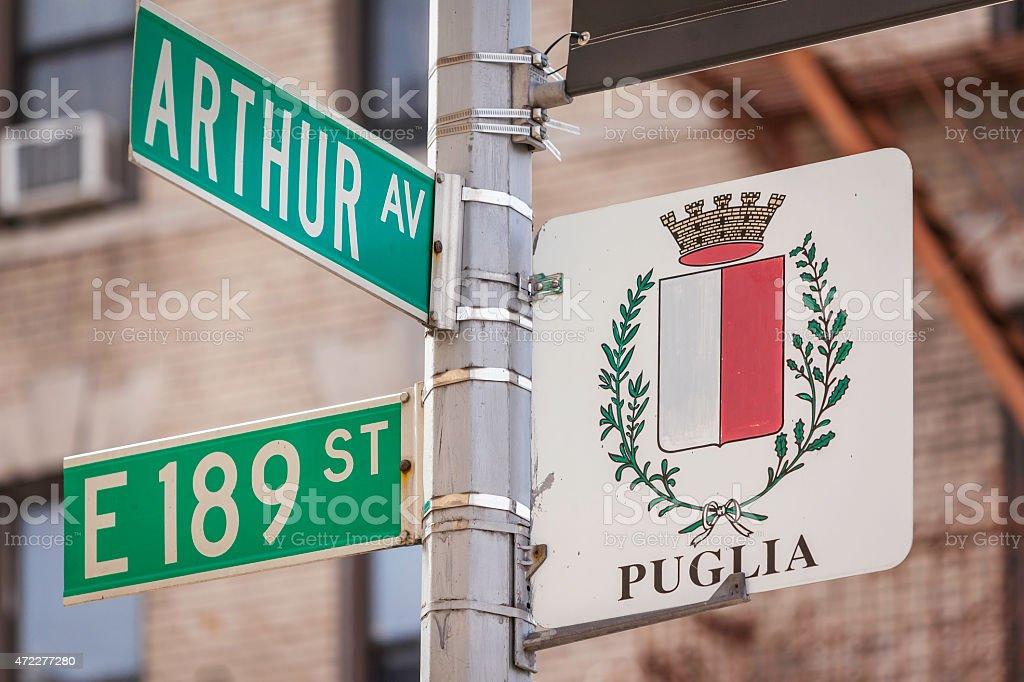 Arthur Ave&189th stock photo