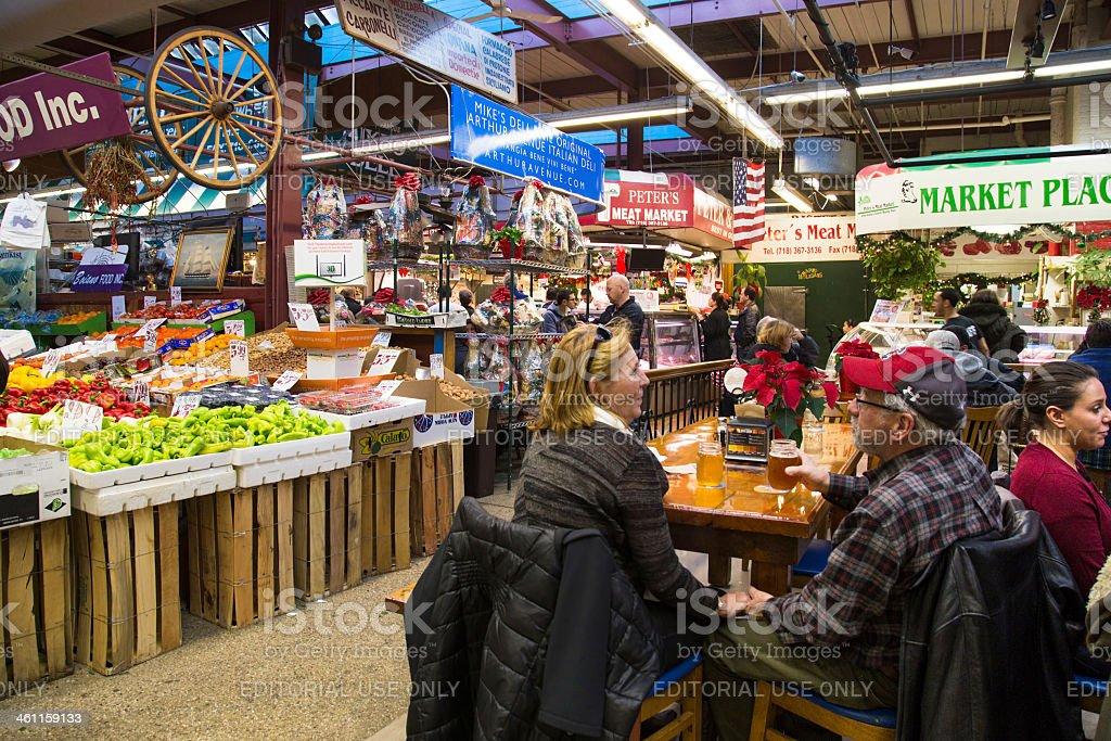 Arthur Avenue The Bronx stock photo