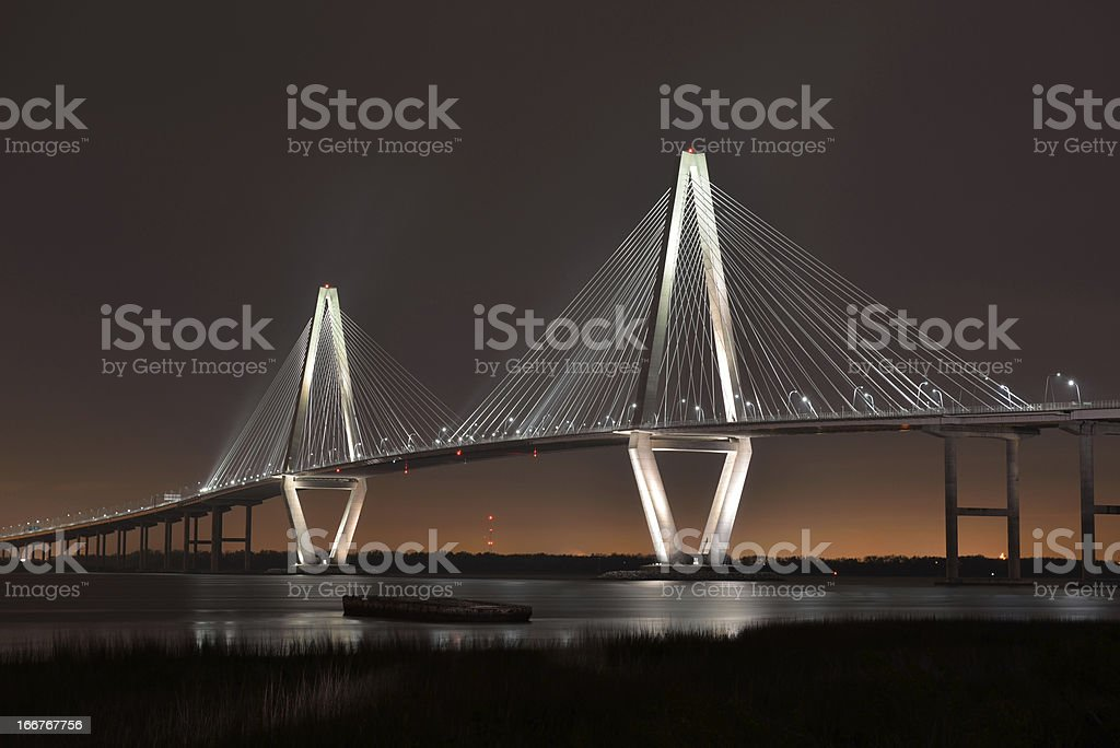 Arthur Ravenel Jr Bridge stock photo