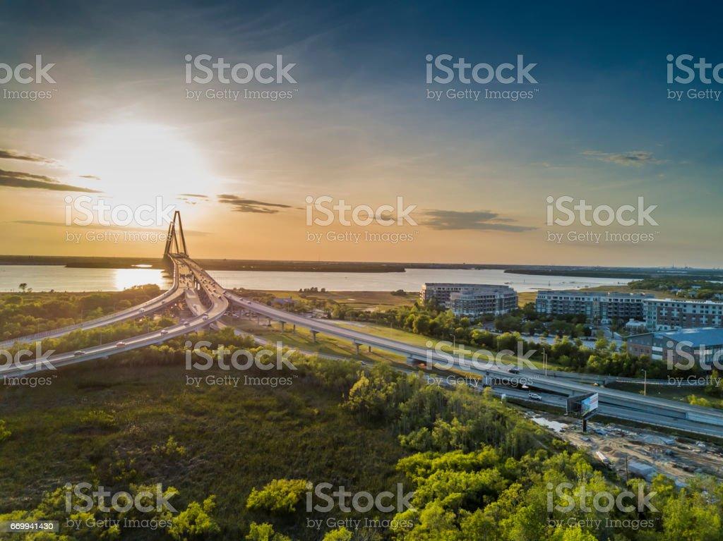 Arthur Revenel Bridge stock photo