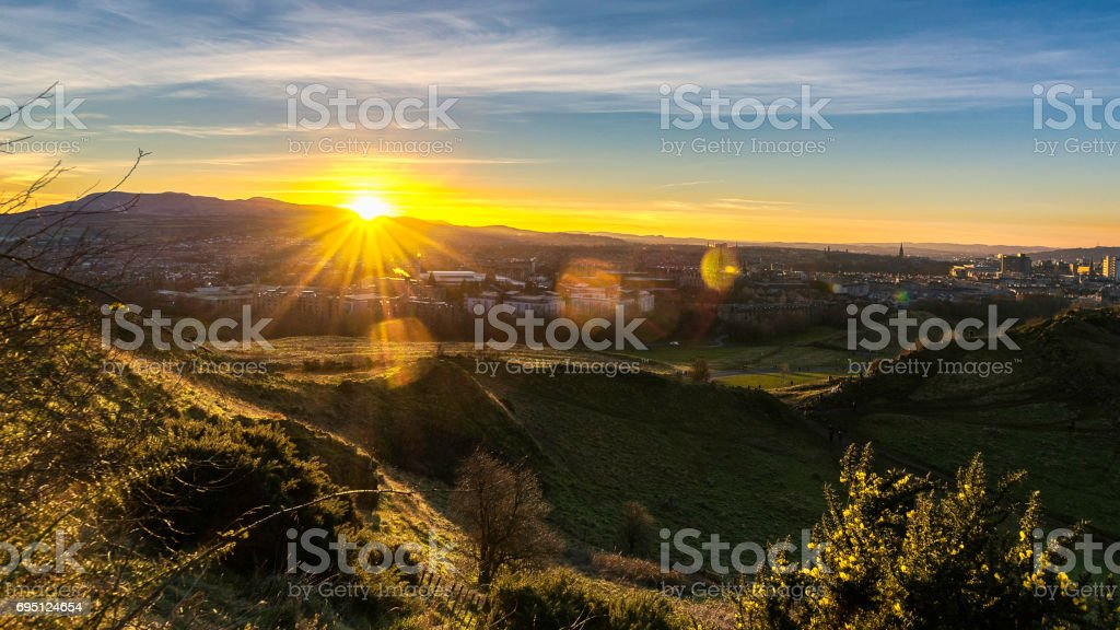 Arthur Seat, Edinburgh UK stock photo