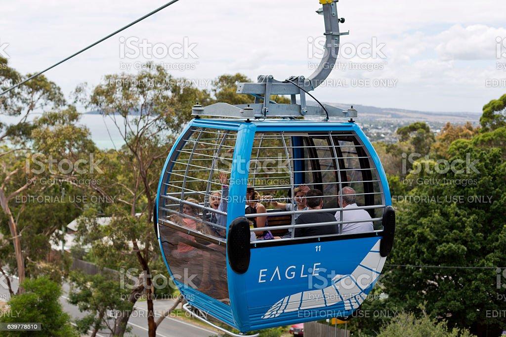 Arthurs Seat Eagle Skylift stock photo