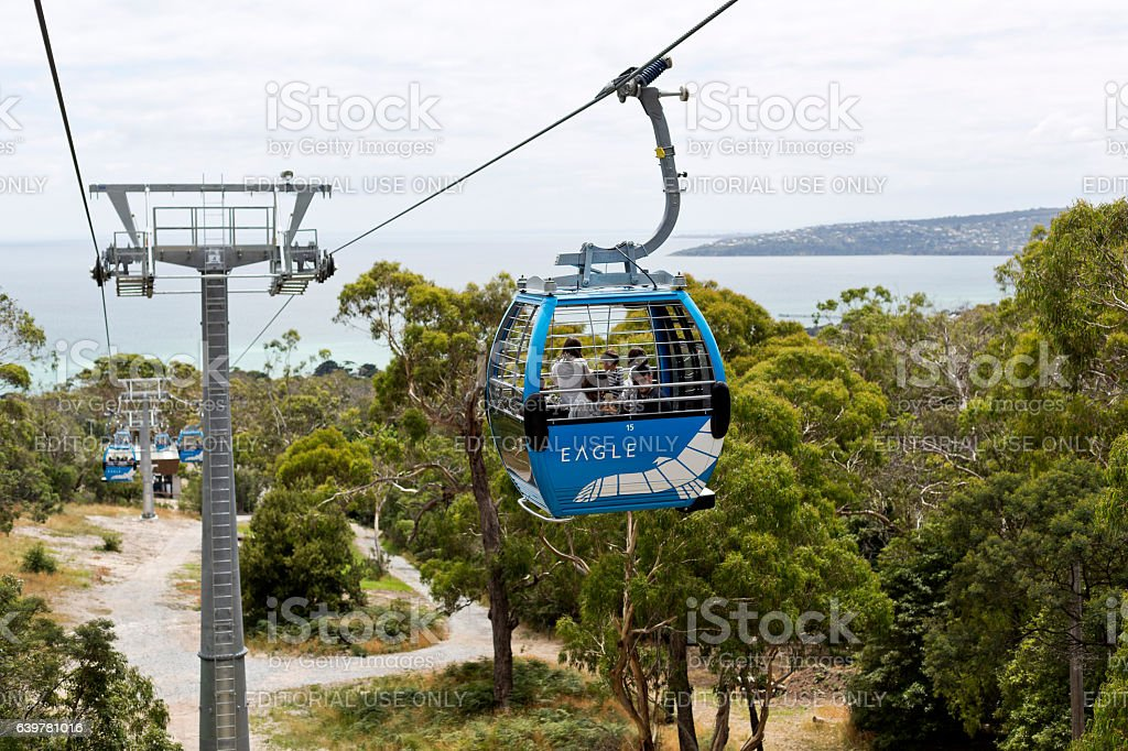 Arthurs Seat Eagle Skylift stock photo