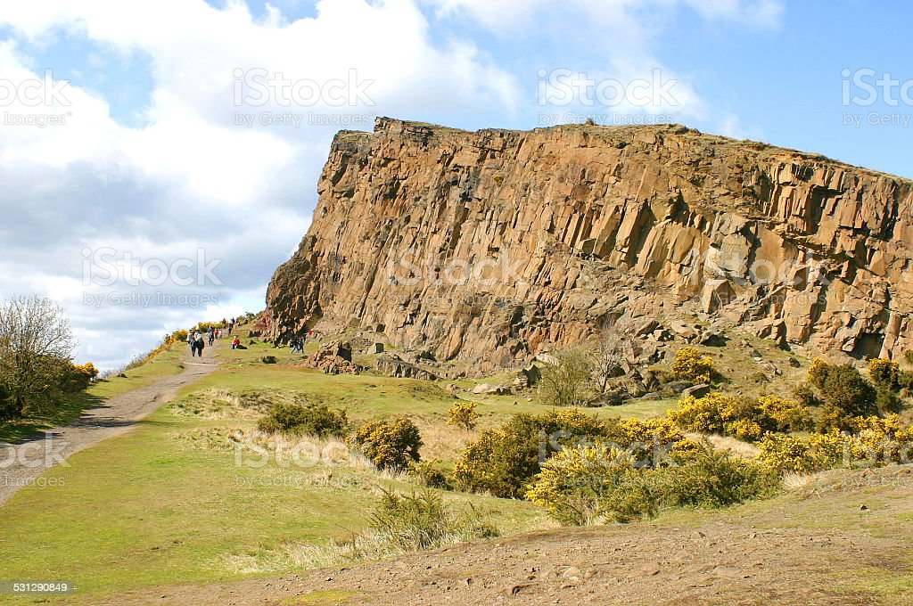 Arthur's Seat hills, Edinburgh, Scotland stock photo