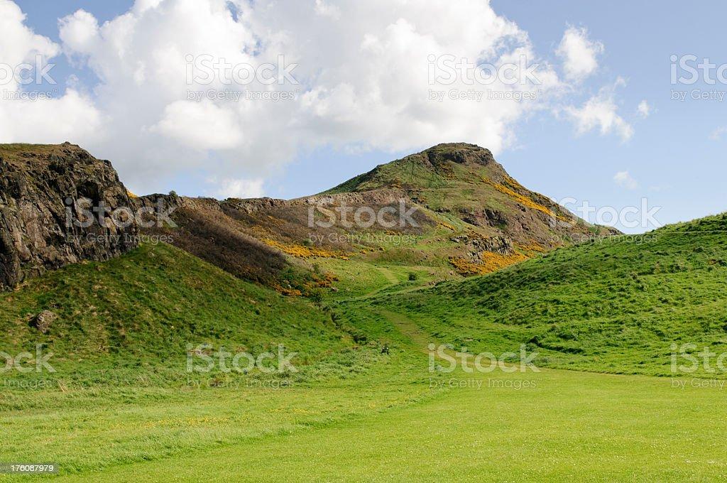 Arthur's Seat in Edinburgh royalty-free stock photo