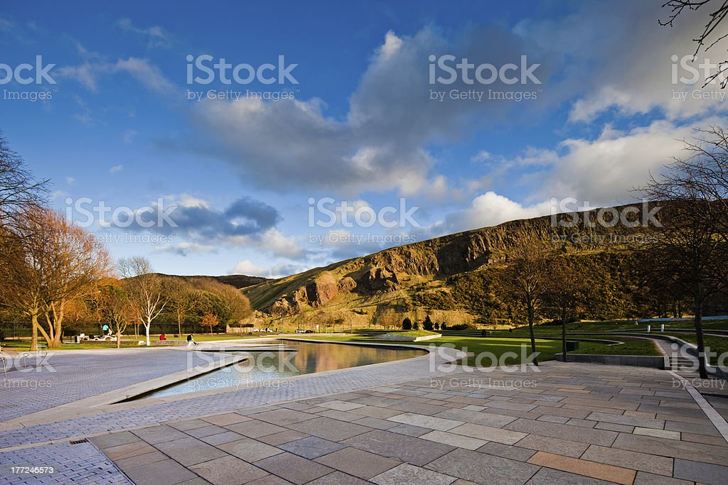 Arthur's seat in Edinburgh stock photo