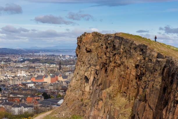 Arthur's seat in Edinburgh, Scotland stock photo