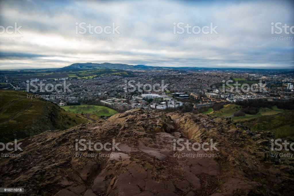 Arthur's Seat View stock photo